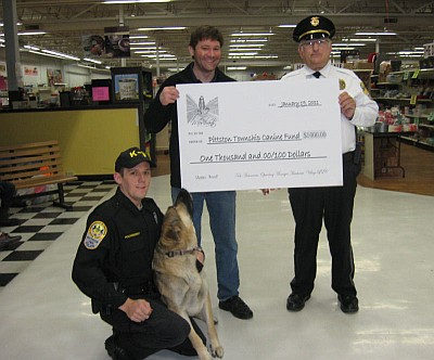 Donation to Pittston Township K9 Fund